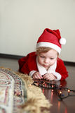 Christmas child in santa hat Royalty Free Stock Photo