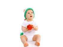 Christmas and childhood concept - cute baby Royalty Free Stock Photos