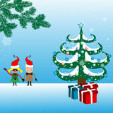 Christmas with children Royalty Free Stock Photos