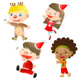 Christmas children. There are happy Christmas children Royalty Free Stock Photography