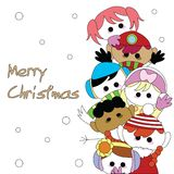 Christmas children card Royalty Free Stock Photography