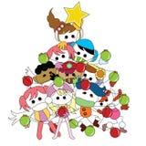Christmas children card. For christmas theme Stock Image