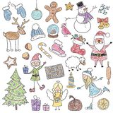 Christmas Children's Drawings Stock Photography