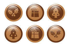 Christmas chocolate Stock Photography