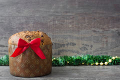 Christmas chocolate cake panettone Royalty Free Stock Image
