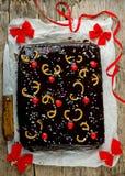 Christmas chocolate cake Stock Photo