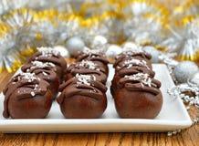 Christmas chocolate cakes Stock Photo