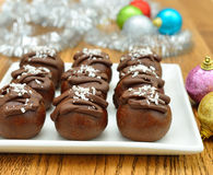 Christmas chocolate cakes Stock Images
