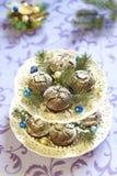 Christmas chocolate cakes Stock Photography