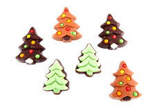 Christmas chocolate candy in shape of tree Stock Photography
