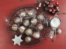 Christmas chocolate and caramel fudge cookies Stock Photo