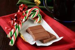 Christmas chocolate and coffee Royalty Free Stock Photo
