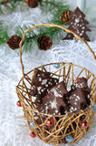 Christmas chocolate cookies Royalty Free Stock Photos