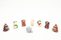 Christmas chocolate figurines Stock Photo