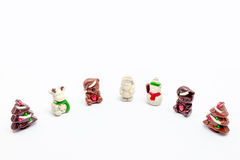 Christmas chocolate figurines Stock Image