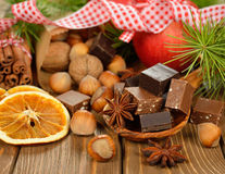 Christmas chocolate fudge Stock Image