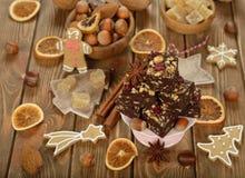Christmas chocolate fudge Royalty Free Stock Photos