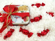 Christmas chocolate gift Stock Images