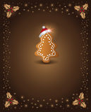 Christmas chocolate gingerbread stock illustration