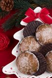 Christmas chocolate gingerbreads Royalty Free Stock Photo