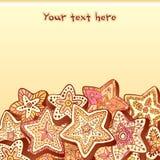 Christmas chocolate honey-cakes background Royalty Free Stock Photo
