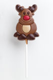 Christmas chocolate lollipop Stock Photos