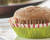 Christmas chocolate muffin glaze Stock Image