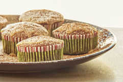 Christmas chocolate muffin glaze with coffe Royalty Free Stock Images