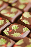 Christmas chocolate pralines Stock Photo