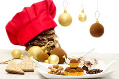 Christmas chocolate sweets and cookies Stock Image
