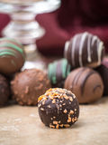 Christmas Chocolate Truffles royalty free stock image