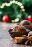 Christmas chocolate truffles Stock Image