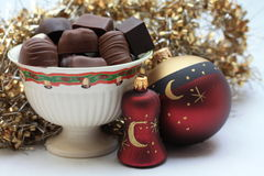 Christmas chocolates Stock Images