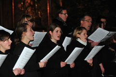 Christmas chorus Stock Photo