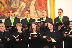 Christmas chorus. Frankfurt, Germany - December 18, 2010 - Chorus singing christmas songs in church Royalty Free Stock Photos