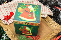 Christmas. Christmas Decoration and Box Holiday Decorations Stock Photos