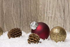 Christmas, christmas ornament red and brown Royalty Free Stock Photos