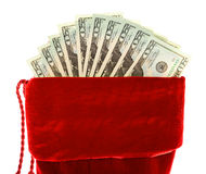 Christmas: Christmas Stocking with Money Stock Photos