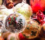 Christmas Christmastree snowman. Holiday celebration ornament winter snow Royalty Free Stock Photo