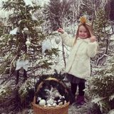 Christmas. Tree  winterwonderland photo girl Royalty Free Stock Image