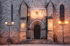 Christmas Church Entrance Royalty Free Stock Photo
