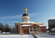 Christmas Church. Rogozhsky village, Moscow. Church of the Nativity was built in 1804 at Rogozhskom Old Believers cemetery royalty free stock photos