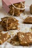 Christmas cinnamon-almond shortbread Stock Photography