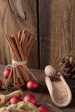 Christmas cinnamon aniseed Royalty Free Stock Photo
