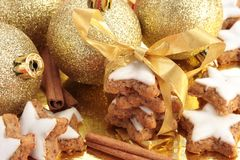 Christmas cinnamon cookies Stock Image