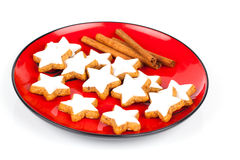 Christmas cinnamon star cookies Royalty Free Stock Photography