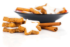 Christmas cinnamon star cookies Royalty Free Stock Photos