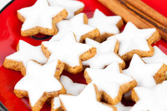 Christmas cinnamon star cookies Royalty Free Stock Photography