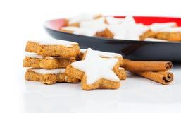 Christmas cinnamon star cookies Stock Photo