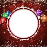 Christmas Circle Notice Royalty Free Stock Image